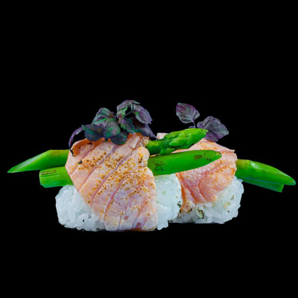 11 Salmon Aburi (2 Stk.)